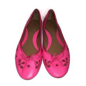 Sperry Top Sider Luna Hot Pink Laser Cut Flats